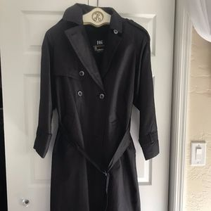 London Fog Vintage Charcoal Grey Trenchcoat sz 10